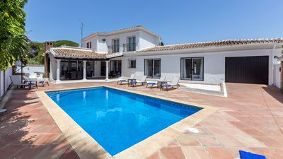 Photo for Refurbished Villa, 5 Minute Walk to Puerto Banus, with Private Pool & Internet.