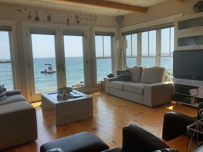 Living room is literally a few steps from your beach