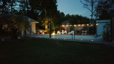 Photo for Contemporary house with swimming pool between the Bay of Arcachon and Bordeaux.