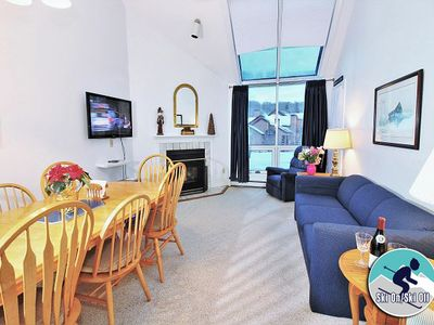 Photo for Beautiful view Pico slope side condo - walk to lift & ski back!