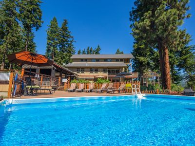 Photo for Private Retreat in the Woods on 20 Acres!  Grand Lodge with 8 Studio Cabins!!