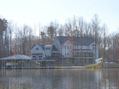 Photo for PRIVATE 650' Waterfront!  240 degree views, Boat rental, 8700 sq ft living space