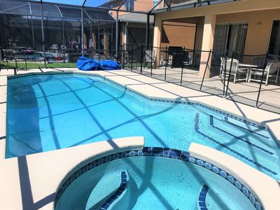 Photo for 7 Bedroom 5.5 Bath wifi private pool By A Plus 3 miles to Disney