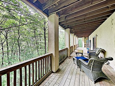 Photo for New Listing! Tranquil Mountain Retreat w/ Private Studio - Near Asheville