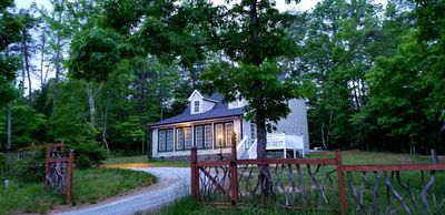 Beach Mountain home in very private setting minutes from lake, beach and river.