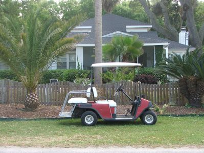 House and golf cart