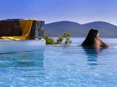 Photo for Villa Joanna, 30m from the sea, infinity pool, sleep up to 6, panoramic sea view
