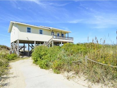Photo for Incredible location right on the beach! You cannot get any closer to the Atlantic Ocean without getting wet! Hot-tub and wonderful oceanfront deck!