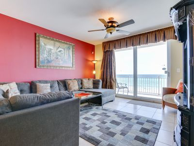Photo for 2 Gulf front Masters, low floor West Corner Unit with Huge Balcony.  sleeps 8