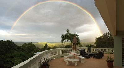 another day on the terrace with a full rainbow