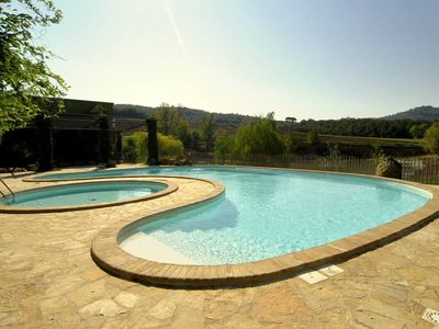 Photo for Two villas and a cottage in a 60 Ha private property, Pool, WiFi, fishing, bikes