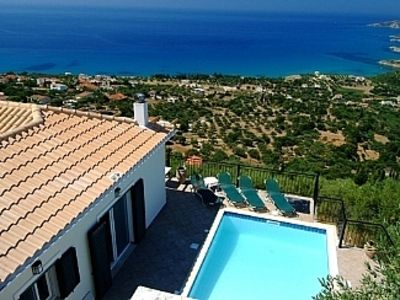 Photo for Villa with private pool and stunning views. Village location close to Lourdas.