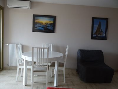 Photo for Furnished flat, at 100 m to the beach and the new PROM, at 300  to racecourse