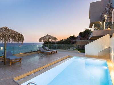 Photo for Luxury,Incredible Sea View,20m from Beach,Private pool,5 min to Plakias & tavern
