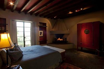 Another view of 1st floor master suite with king bed & private bath.