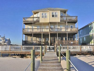 Photo for 7 bedroom Gulf front duplex with a POOL will accommodate your whole family
