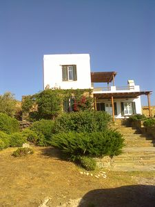 Photo for Tinos Cyclades Traditional House, close to the sea, unique view, min from port
