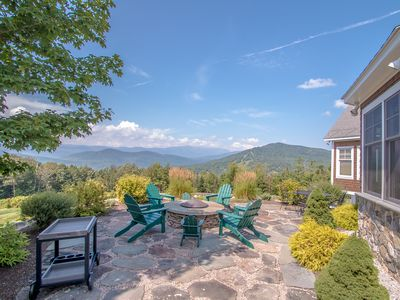 Photo for Summer getaway! Spectacular Mountain Views -  4 miles from Storyland!
