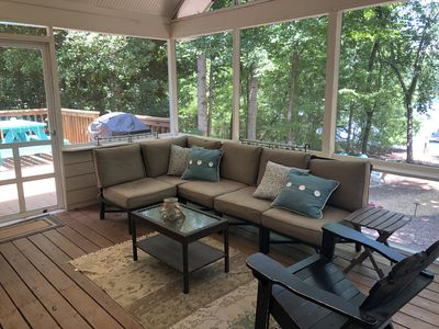 Photo for Lake home on Lanier at Thompson Creek with new 32x32 dock
