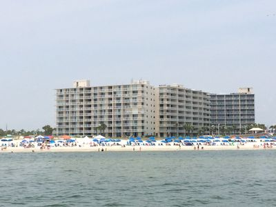 Top floor, corner unit in the Building closest to the Gulf of Mexico.