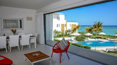 Photo for Ocean view 3BR apartment at Flic en Flac by Horizon Holidays