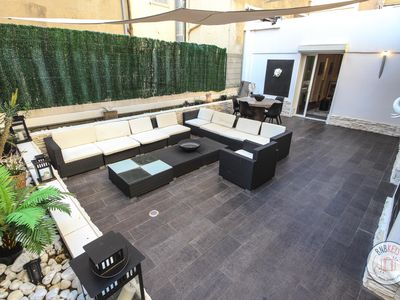 Photo for Apartment with big patio in Cannes Carré d'Or