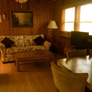 Photo for 2 bedroom 1 bath cabin with fireplace.
