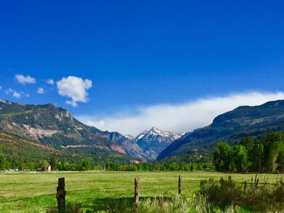 Photo for 5-star high-mountain ranch getaway flanked by San Juans along Uncompaghre River