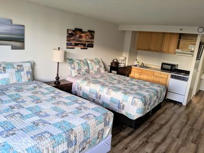 Photo for Newly renovated studio room with two queen beds, full kitchen and full bath