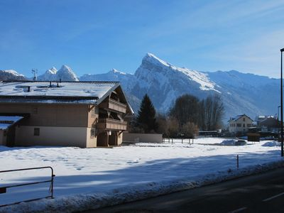 Photo for Beautiful one bedroom + coin montagne apartment in Morillon Village