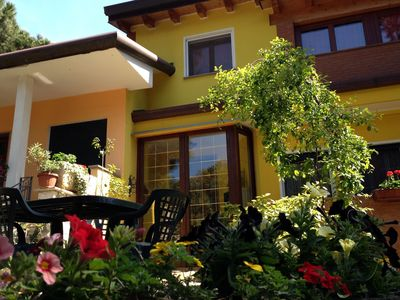 Photo for Semi-detached house, large garden, in Rosolina Mare, close to Venice