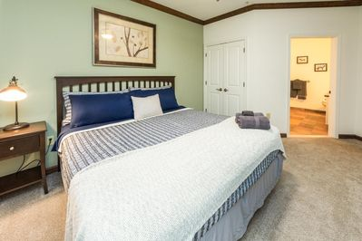 Master Bedroom - comes with a smart TV and a closet that has plenty of space and hangers