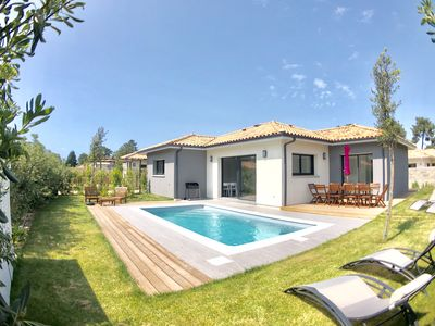 Photo for Villa Bergeronnette 4 bedrooms swimming pool bowling La Hume 3 bathrooms