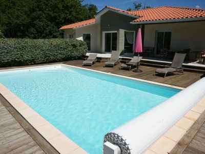 Photo for Luxury Villa Sleeps 8  with Private Heated Pool Nr Lake/Beach
