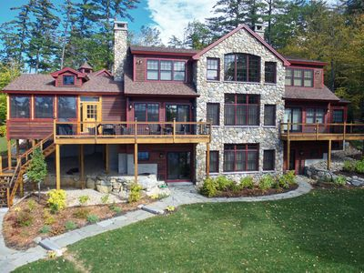 Photo for Luxury waterfront home with all modern amenities provides stunning lake getaway