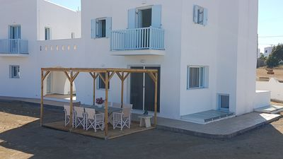 Photo for SUPERB NEW VILLA, CLOSE TO THE BLUE FLAG BEACH IN AGIA ANNA NAXOS