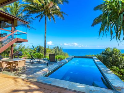 Photo for Ocean Bluff, spectacular views, private pool/hot tub.  Lush tropical setting.