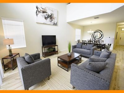 Photo for Solterra Resort 75 - Premium villa with private pool & themed bedrooms near Disney