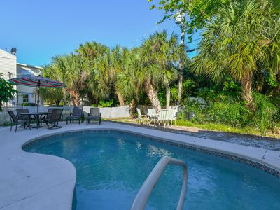 Photo for Pets stay FREE!!   HEATED Pool.   1.5 blocks from Beach. 1 block to Trolley.