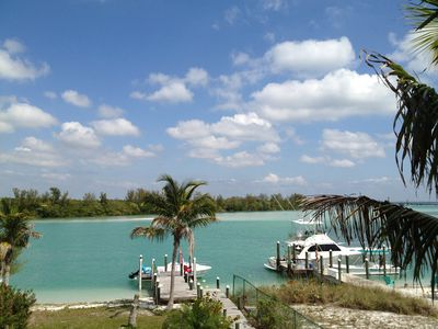 Photo for Private Boat-dock and Beach at our Gulf to Bay Island Home