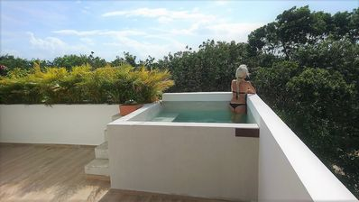 Photo for Apartment with terrace, plunge pool and BBQ in greenest Tulum
