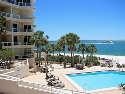 Photo for Dolphin View - Beach and Harbor on Holiday Isle!  Best of Both Worlds!
