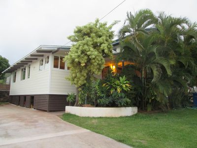 Photo for Kailua luxury  Cottage, 8 minutes to Lanikai and Kailua beaches. A/C in every Rm