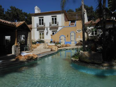 Photo for Luxury villa Within golf resort, tropical pool, near beaches, Aroeira, Lisbon