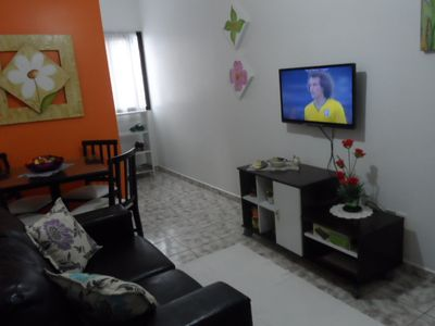 Photo for Great apartment in Praia Grande for 5 people