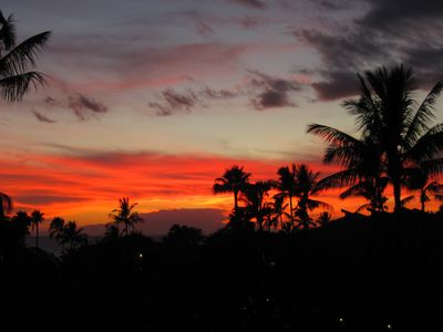 Maui sunset from our lanai
