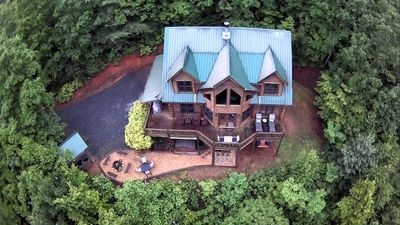Photo for Blue Ridge Private Mountain Cabin with BREATHTAKING views of Cohutta Wildnerness