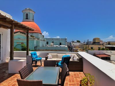 Old San Juan Pent House With Amazing Terrace Catedral