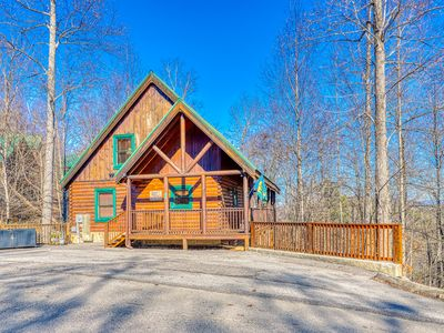 Photo for Rustic home w/ private hot tub, free WiFi, full kitchen, & shared pool access!