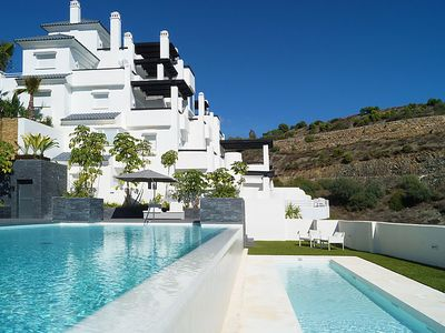 Photo for 4 bedroom Apartment, sleeps 7 with Pool, Air Con, FREE WiFi and Walk to Shops